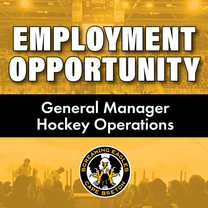 Screaming Eagles Job Posting GM Hockey Operations Social