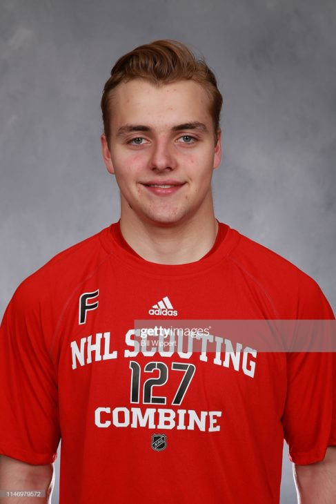 BUFFALO, NY - MAY 30: Nathan Legare poses for a headshot at the NHL Scouting Combine on May 30, 2019 at Harborcenter in Buffalo, New York. (Photo by Bill Wippert/NHLI via Getty Images)